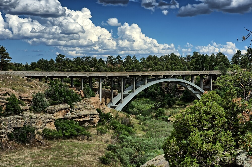 Castlewood Canyon Bridge by Timothy  Ruf