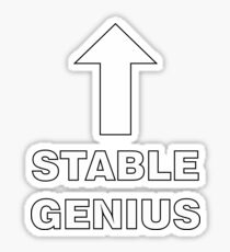 Arrow: Stable Genius Sticker