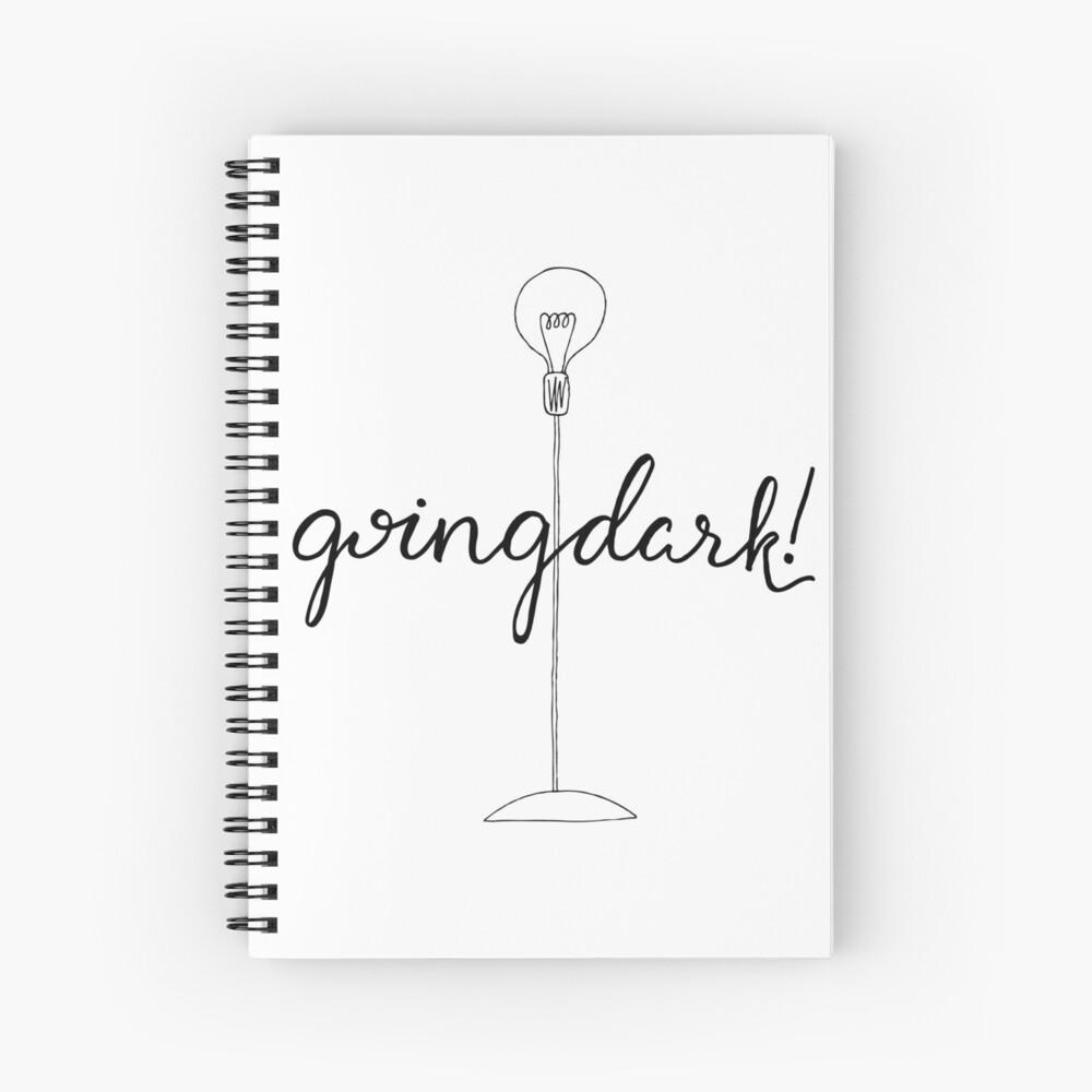 ¡Oscuro! Cuaderno de espiral