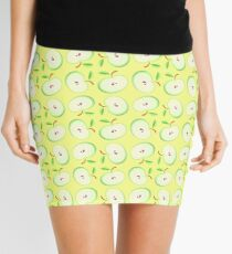 Yellow Vector Pattern Apple Seamless Colorful Repeat Mini Skirt