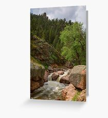 Getting Lost In A Canyon Creek Greeting Card