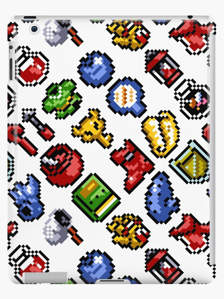 'The Legend of Zelda: A Link to the Past funny items pattern (w2)' iPad  Case/Skin by danteartist