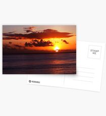 Sunset in Waikiki Postcards