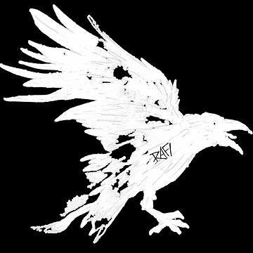 Nevermore White Raven By Rafi Perez by Rafiwashere