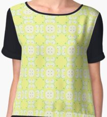 apples yellow fruit vector seamless colorful repeat pattern Chiffon Top