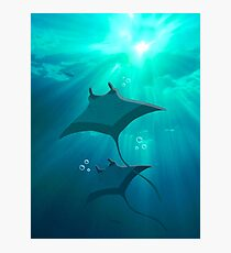 Rays in the Ocean Sky Photographic Print
