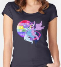 Love Takes Flight Women's Fitted Scoop T-Shirt