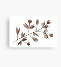 Brown Berries (horizontal) Canvas Print