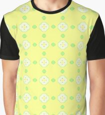 Yellow Pattern Apples Seamless Colorful Repeat Graphic T Shirt