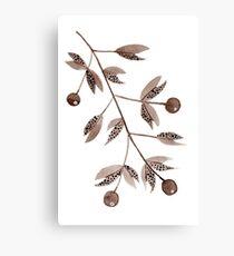 Brown Berries (vertical) Canvas Print