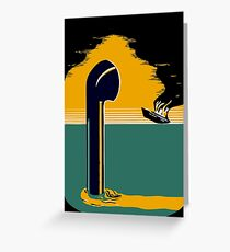 WW2 submarine vintage poster Greeting Card
