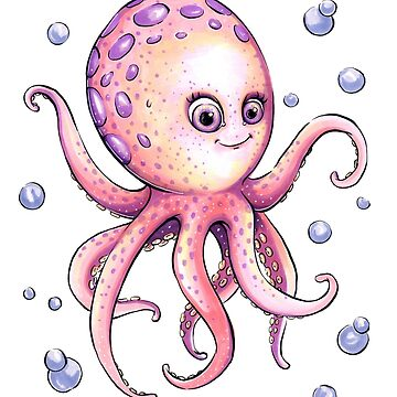Adorable Octopus by obillwon