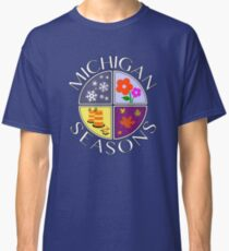 Michigan Seasons, full-color version Classic T-Shirt