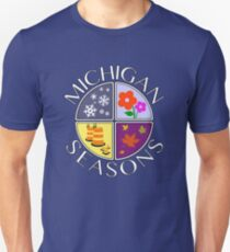 Michigan Seasons, full-color version Unisex T-Shirt