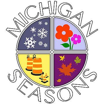 Michigan Seasons, full-color version by Robzilla178