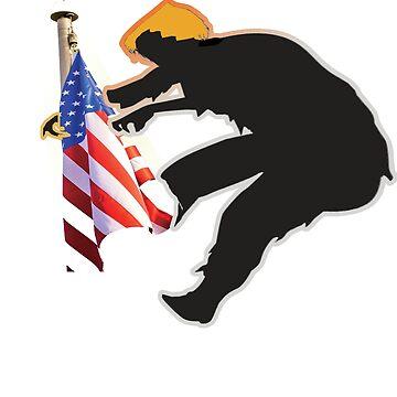 Trump Flag Hug Orange Zombie Resist and Protest Shirt by merchhost