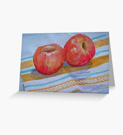 An apple a day... How about 2 a day? Greeting Card