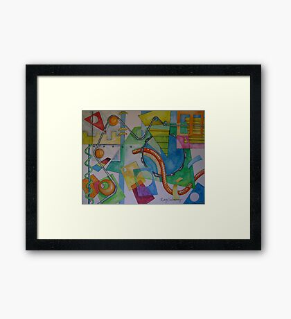 Abstract Movement 2 Framed Print