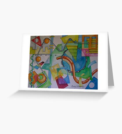 Abstract Movement 2 Greeting Card