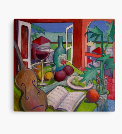 Violin Still life Canvas Print