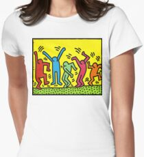 Keith Haring 'Dance Party' Women's Fitted T-Shirt