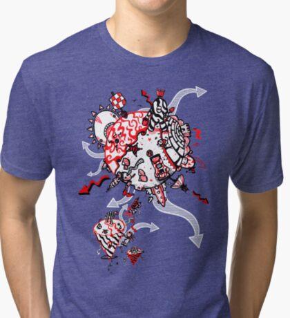 Red Carbon Sands Tri-blend T-Shirt
