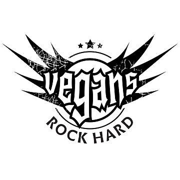 Vegans Rock Hard - Special Unique Vegan Apparel by RaveRebel