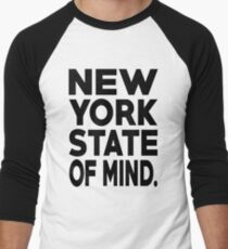 New York State of Mind New York Raised Me Men's Baseball ¾ T-Shirt
