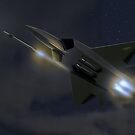 F22 Raptor, fox 3 by MarkSeb