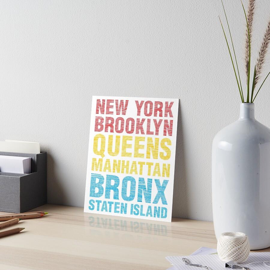 "Brooklyn Staten Island Car: ""New York Brooklyn Queens Manhattan Bronx Staten Island"