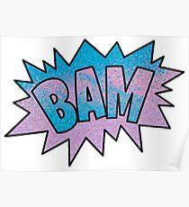 BAM! Pastel PopArt  Poster