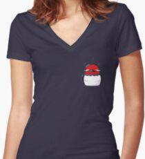 Nero | Black Clover Women's Fitted V-Neck T-Shirt