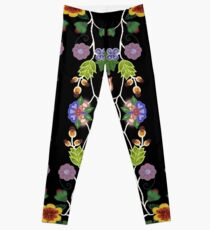 Tangled on Black. Bright and Bold.  Leggings