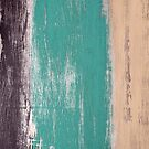 Reclaimed Wood (brown, teal, peach) by 416studios