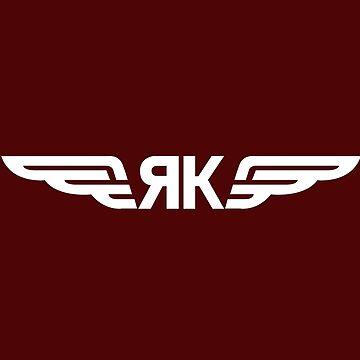 Yakovlev Aircraft Logo    White by warbirdwear