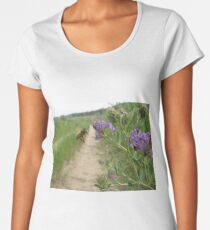 Honey Bee and Alfalfa Flowers Women's Premium T-Shirt