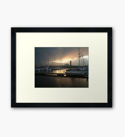 Harbour Night Framed Print