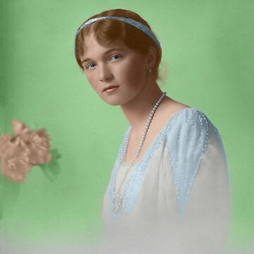 Olga Nikolaevna - 1914 formal Colorized by Laurynsworld