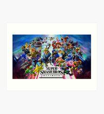 Super Smash Bros. Ultimate Characters Art Print
