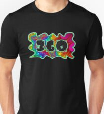 ABSTRACT, GROOVY, AND PSYCHEDELIC 360 DESIGN - VIBRANT COLORS WITH YOUR FAVORITE AREA CODE Unisex T-Shirt