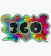 ABSTRACT, GROOVY, AND PSYCHEDELIC 360 DESIGN - VIBRANT COLORS WITH YOUR FAVORITE AREA CODE Poster