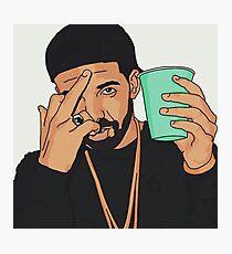 Drake Middle Finger Photographic Print