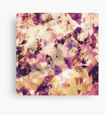 geometric triangle pattern abstract in pink blue yellow Canvas Print