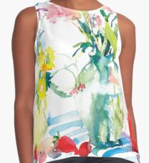 Watery Floral Contrast Tank