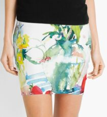 Watery Floral Mini Skirt