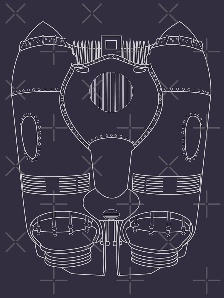 Rocketeer Rocket Jetpack Schematics  by Rvaya