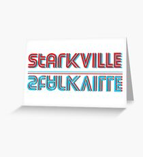 3d mirrored Starkville Greeting Card