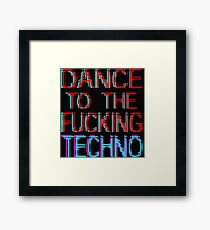 dance to the techno Framed Print