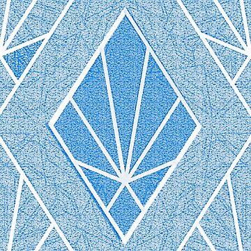 blue Art Deco diamond pattern by almawad