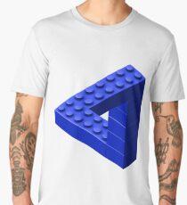 Escher Toy Bricks - Blue Men's Premium T-Shirt